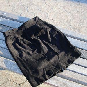 Lord&Taylor Suede Mini Skirt 8 Vintage Deep Black
